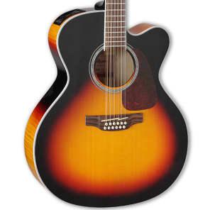 Takamine GJ72CE-12 BSB G70 Series 12-String Jumbo Cutaway Acoustic/Electric Guitar Gloss Brown Sunburst