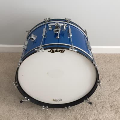 "Ludwig No. 3246 Club Date 14x22"" Bass Drum with Keystone Badge 1960s"
