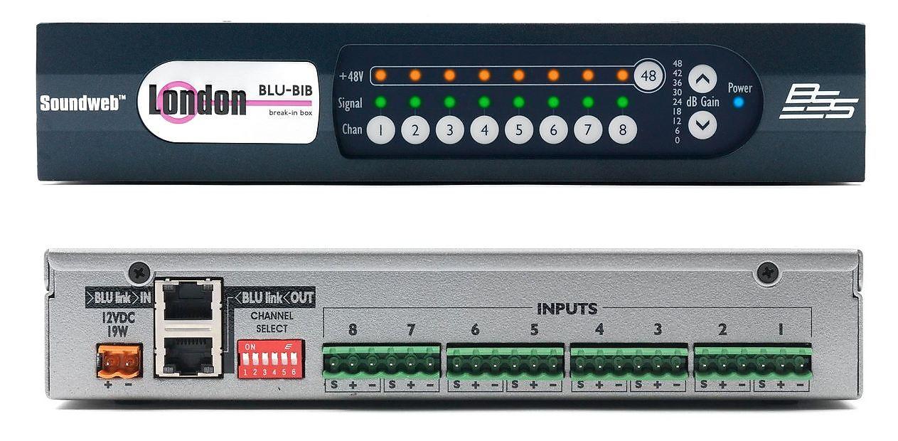 BSS Audio Break In Box Input Expander BLU linkSwitchable Phantom Power 2 Day Ship Authorized Dealer