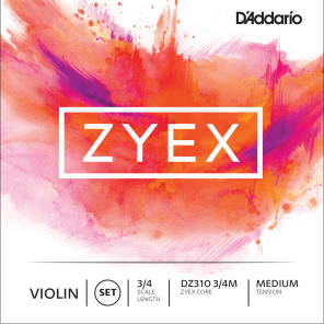 D'Addario DZ310-3/4M Zyex 3/4 Violin Strings - Medium Tension