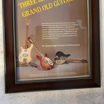 1982 Rickenbacker Guitars Color Promotional Ad Framed B Series Guitars Original