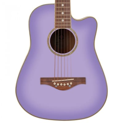 Daisy Rock 'Wildwood' Short Scale Acoustic Guitar Purple Daze for sale