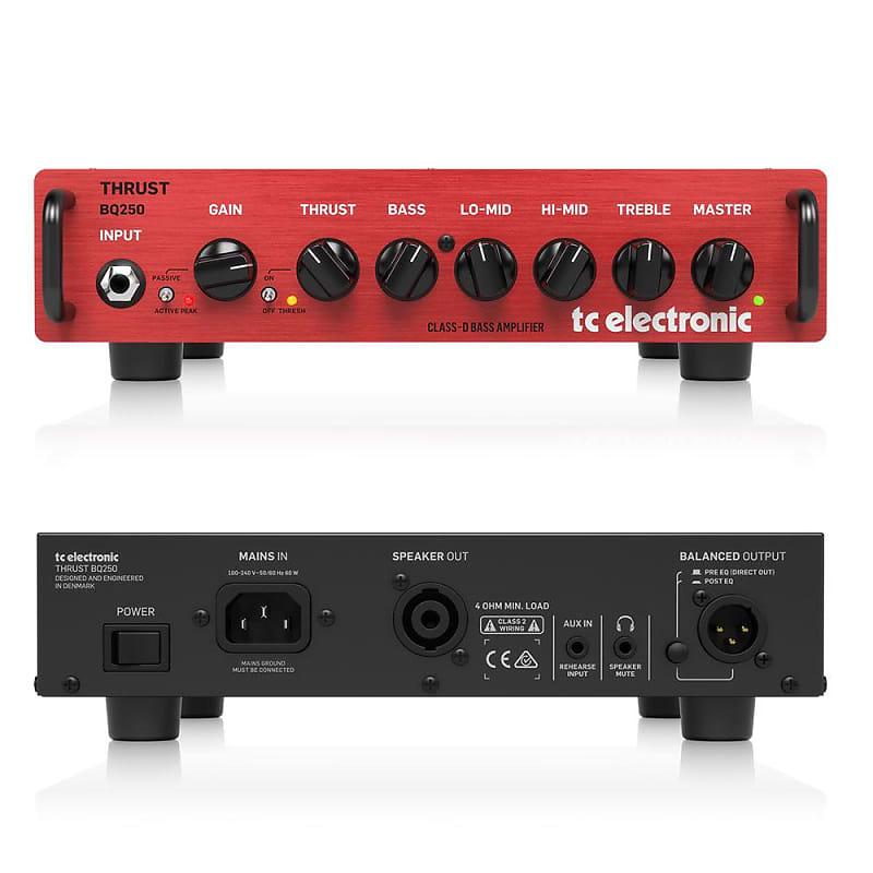 tc electronic bq250 250 watt portable bass head mosfet preamp reverb. Black Bedroom Furniture Sets. Home Design Ideas