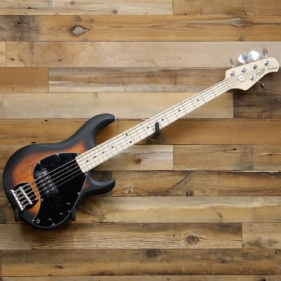 Sterling by Music Man StingRay Ray5 5-String Bass Guitar Vintage Sunburst for sale