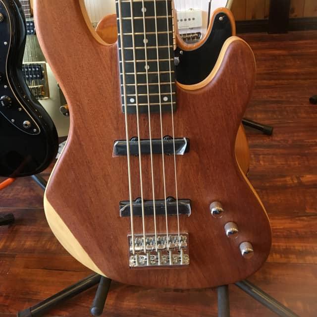 Wolf JB5 bubinga Matt Solid Bubinga 5 String Bass image