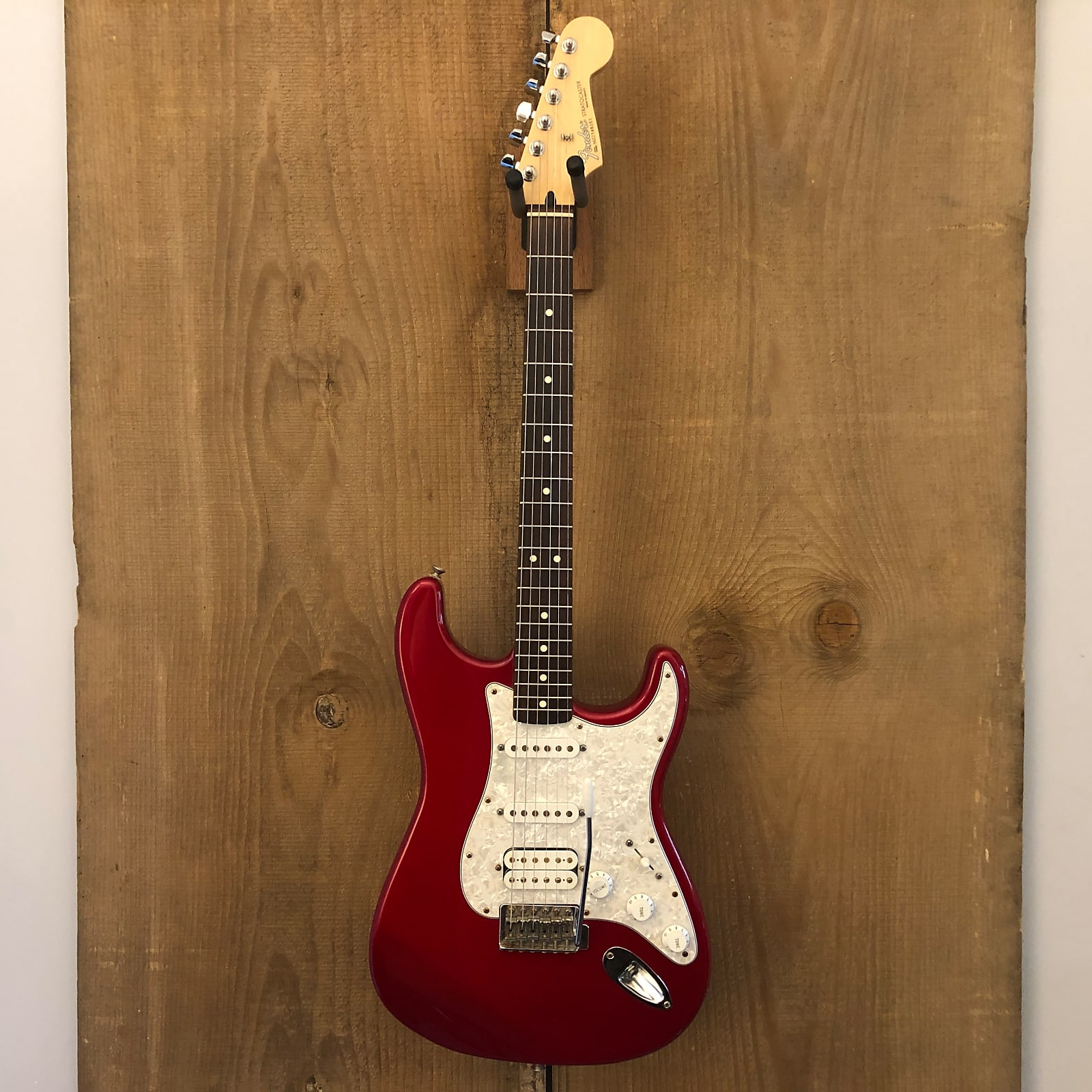 Fender Traditional Fat Strat HSS Stratocaster MIM Candy Apple Red 2002 Mexico