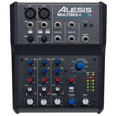Alesis MultiMix 4 USB FX 4-Channel Mixer with Effects
