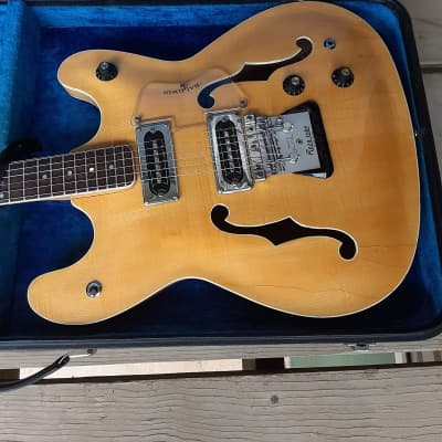 Vintage Circa 1966 Burns-Baldwin Vibraslim Electric Guitar w/ Original Case! Natural, Flamed Maple! for sale