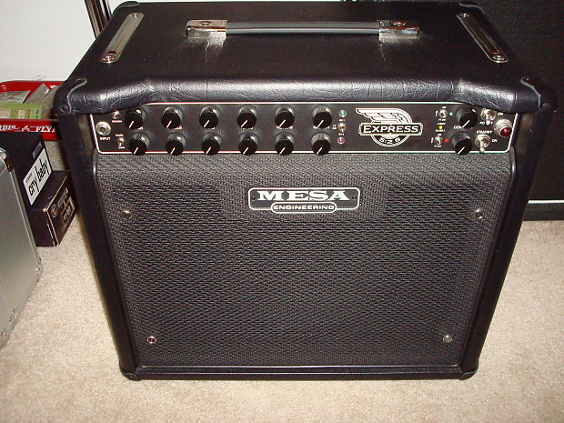 Mesa boogie express 5 25 1x12 combo black with cover and for Mesa boogie express 5 25