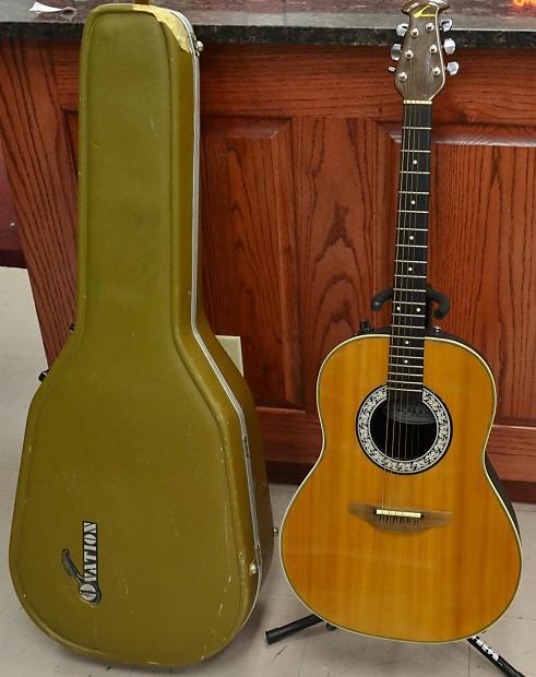 ovation balladeer 1639 6 string acoustic electric guitar reverb. Black Bedroom Furniture Sets. Home Design Ideas