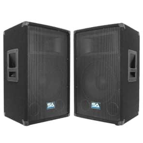 """Seismic Audio SA-12T Passive 1x12"""" Titanium Horn 300w Speakers (Pair)"""