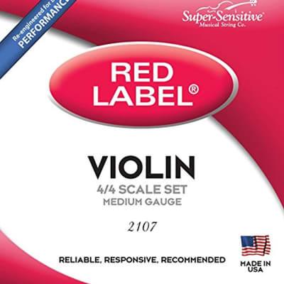 Super-Sensitive 2107 Red Label 4/4 Size Violin Strings