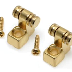 Guitar Parts ROLLER STRING TREES Retainer Guides - Set of 2 - GOLD