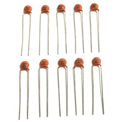 Guitar Tone Capacitors .01uF Ceramic Disc - 10pcs