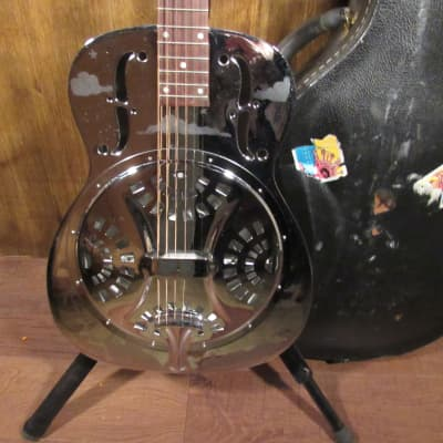 2000 Dobro DM-33H Metal Round Neck Resonator Acoustic Electric Guitar for sale