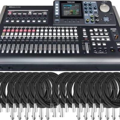 Tascam DP-24SD 24 Track Digital Portastudio w/ 16 cables