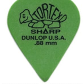 Dunlop Tortex Sharp .88 Guitar Picks 12 Pack (412P.88)