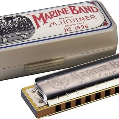 NEW Hohner Marine Band 1896 Classic Harmonica - Key of 'B'