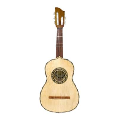 Paracho Elite Vihuela 5-String Deep Body Acoustic Latin Rhythm Guitar with Gig Bag for sale