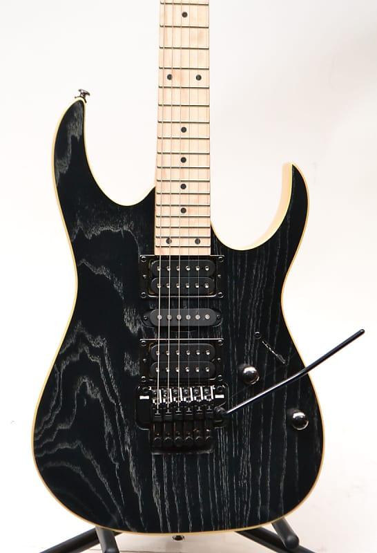 ibanez rg370ahmzswk electric guitar silver wave black reverb. Black Bedroom Furniture Sets. Home Design Ideas