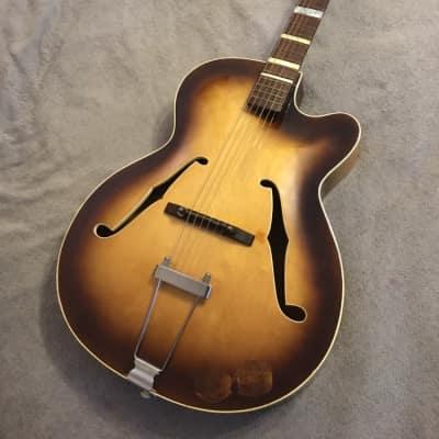 Klira Archtop Jazz Acoustic, Early 1960's Sunburst & Case for sale