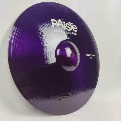 """Paiste 16"""" Color Sound 900 Series heavy crash Crash Cymbal Purple"""