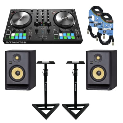 Native Instruments TRAKTOR KONTROL S3 + KRK ROKIT RP5 G4 (PAIR) + MONITOR STANDS  and Cables.