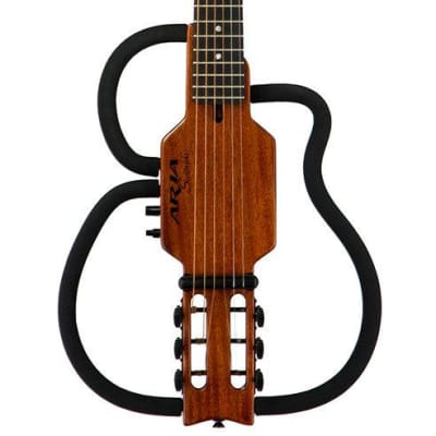 Aria Sinsonido Steel String Travel Guitar with Accessories for sale