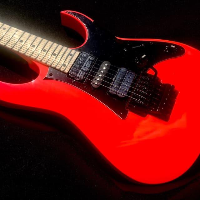 Ibanez RG550 RF Genesis  Road Flare Red Electric Guitar & Deluxe Gig Bag Demo Video Inside image