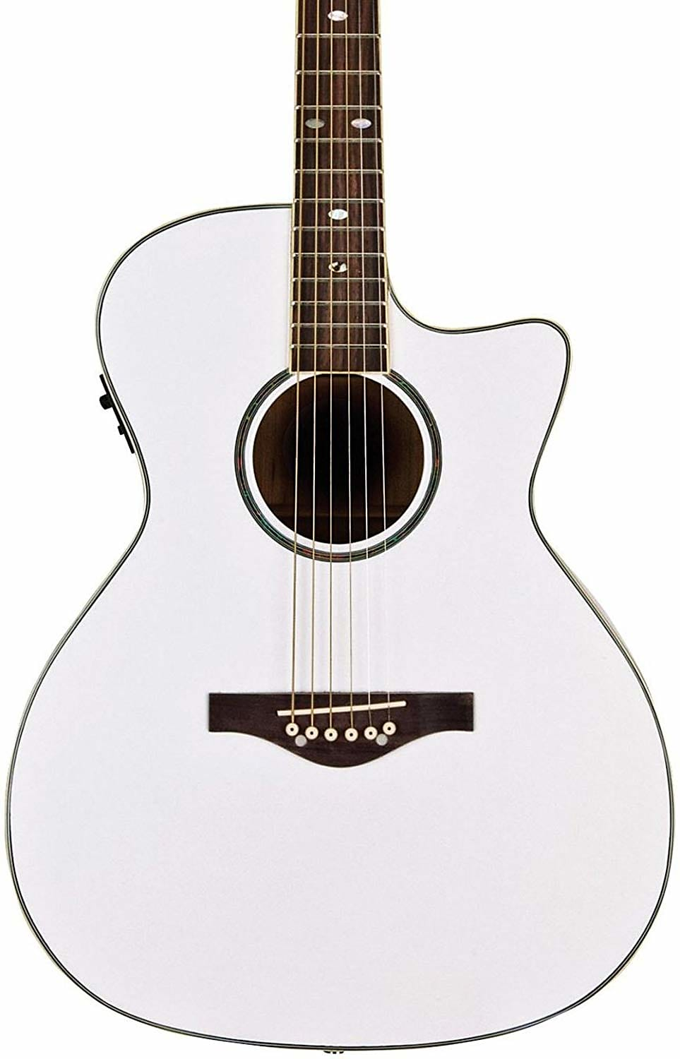Daisy Rock DR6274 Wildwood Cutaway Acoustic Electric Guitar Pearl White