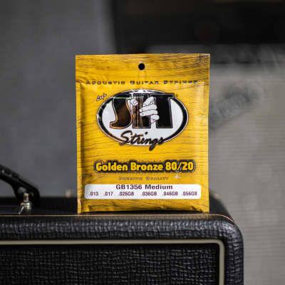 SIT GB1356 Golden Bronze 80/20 Acoustic Guitar Strings - Medium (13-56)