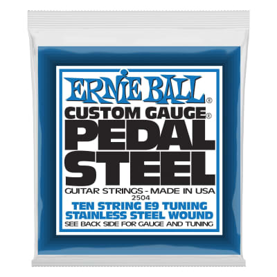 Ernie Ball 2504 Pedal Steel E9 Tuning Guitar Strings - .013-.038
