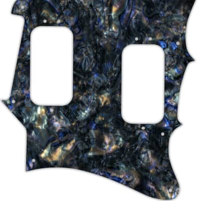 WD Custom Pickguard For Fender 2012-2013 Made In Mexico Pawn Shop Super-Sonic #35 Black Abalone