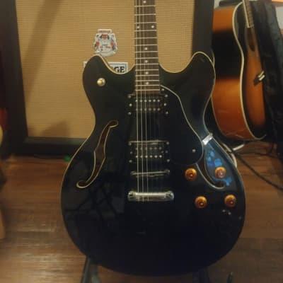 Oscar Schmidt OE30-B Semi-Hollow Electric Guitar for sale