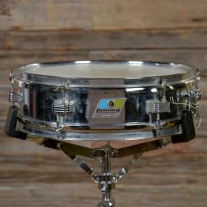 "Ludwig No. 405 Aluminum Piccolo 3x13"" Snare Drum with Pointed Blue/Olive Badge 1969 - 1979"