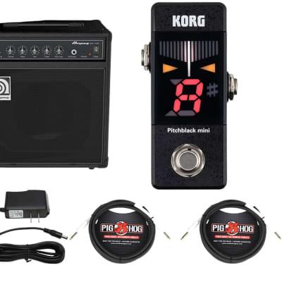 Ampeg BA-108v2 + Korg Pitchblack Mini + Power Supply + Cables