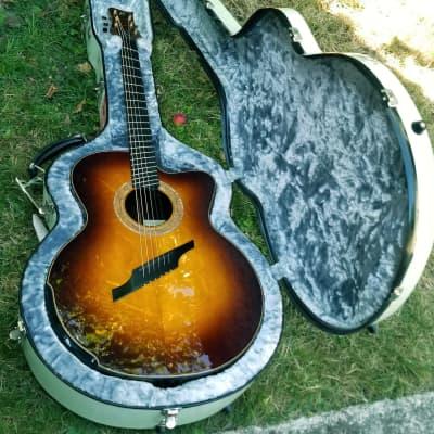 Greenfield G4  Acoustic Guitar Fan Fret Signature Model -2005 Sunburst for sale