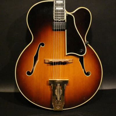 1957 Gibson L-5 C acoustic archtop in sunburst with original case and extra pickguard with pickup for sale