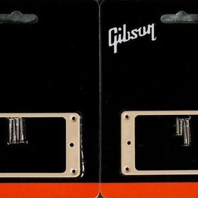 GIBSON Les Paul Creme Pick-Up Ring Mounting Set - Brand New Factory Sealed.