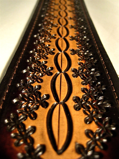 Hand Tooled Leather Guitar Strap Hot Seller Pattern Reverb