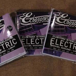 Echosonic E10 Electric Guitar Strings Steel Core Nickel Wound (3-Pack) for sale