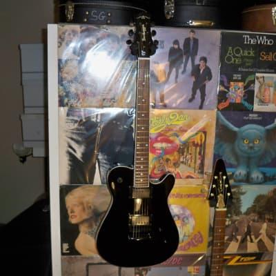 Bootlegger Guitar Rhye Black Oulaw with Simi-ridged Case/Gig Bag 2019 for sale