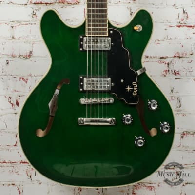 Guild Starfire IV Electric Guitar - Emerald Green x5822 (USED) for sale