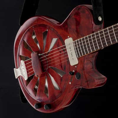 Maudal Musical Machines  Cherry Pop, a Woodface™ electric resonator  2016 Cherry red, nitro for sale