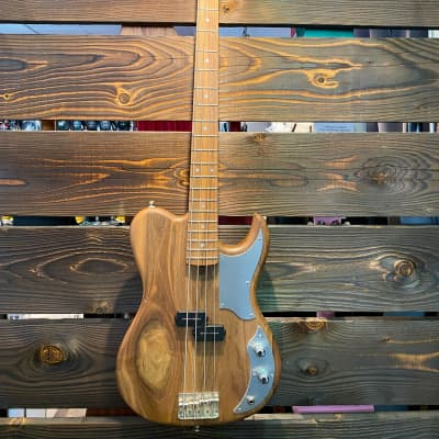 Alpine Guitar « La Sauvage » custom Delachapelle natural wood Handmade for sale