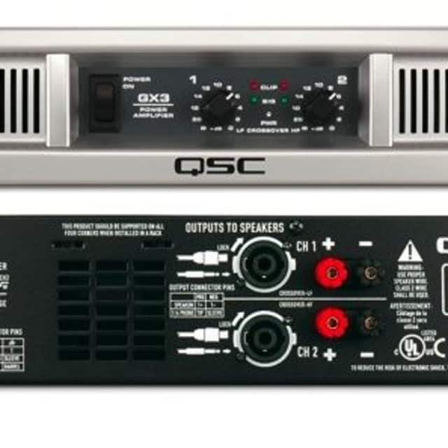 QSC GX3 Stereo Power Amplifier image