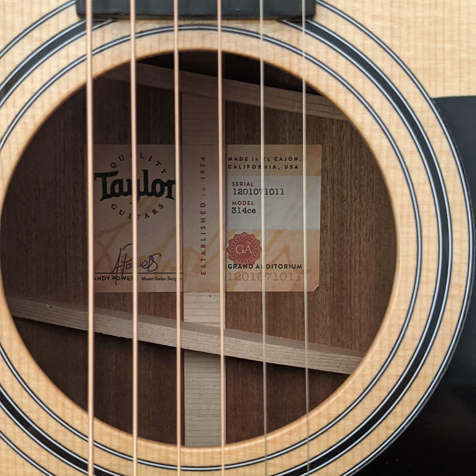 Taylor 314ce Grand Auditorium Acoustic Electric Guitar