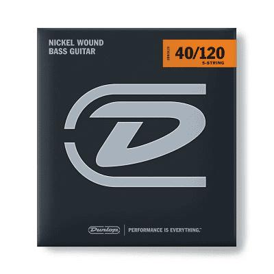 Dunlop DBN40120 Nickel-Wound Stainless Steel 5-String Bass Strings (40-120)