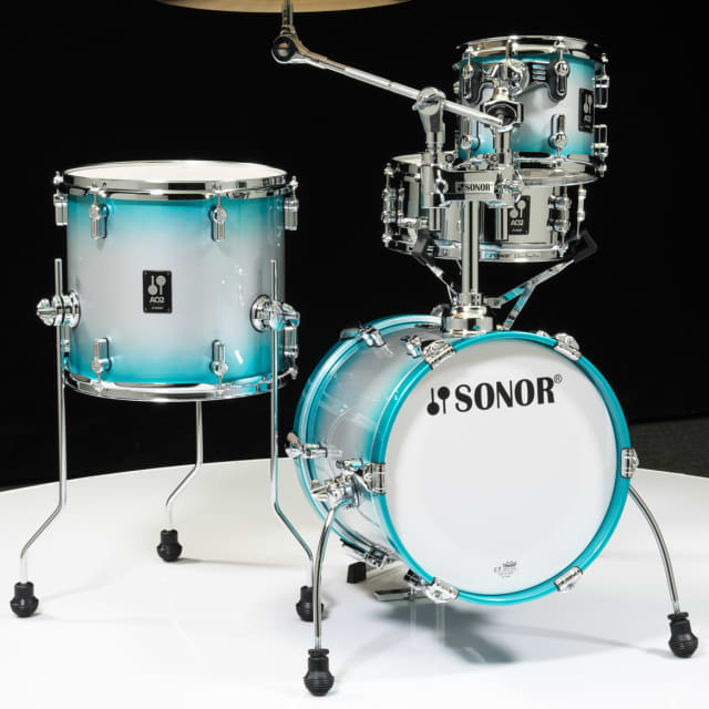 Sonor AQ2 Maple Martini Kit 4pc Shell Pack - Aqua Silver Burst image