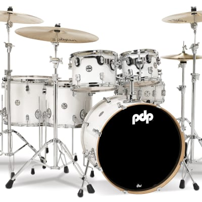 PDP Concept Maple Pearlescent White Drum Set - 22, 10, 12, 14, 16, 5.5x14 - PDCM2216PW